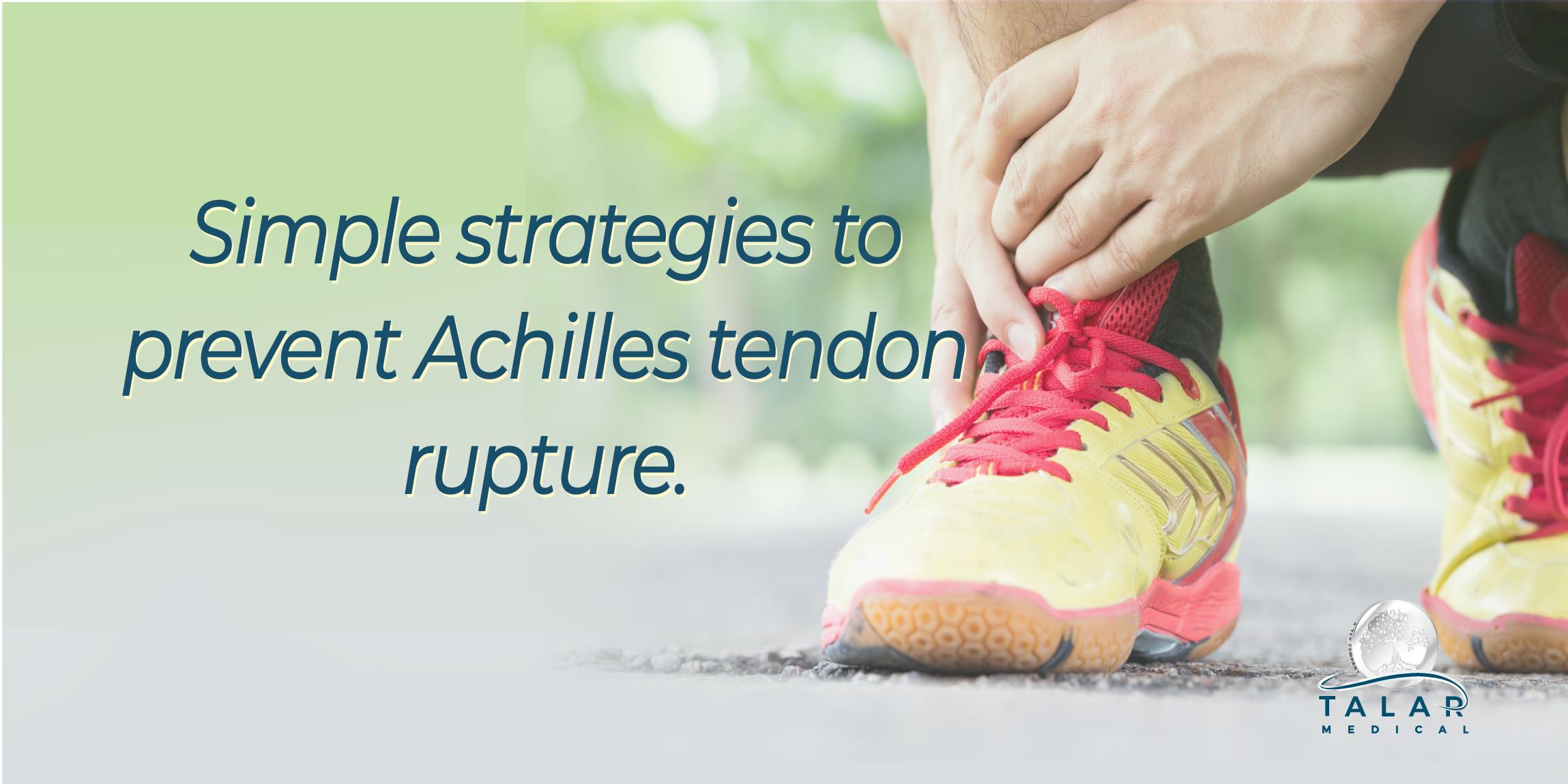 Achillies tendon rupture